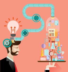 Creative brain idea concept vector